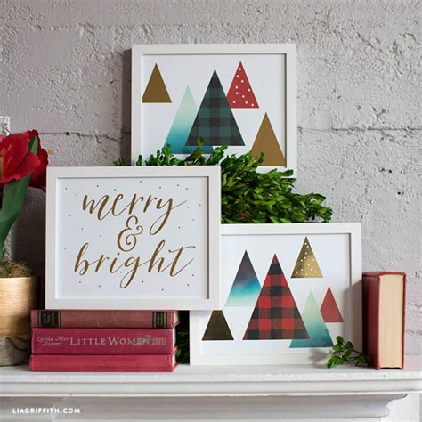 The holidays are a time when our homes are often filled with friends and family. Gold Foil Christmas Wall Art - Lia Griffith