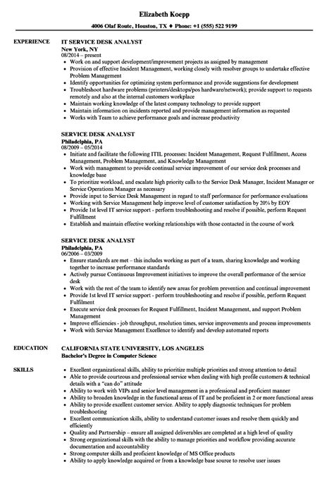 Customer Service Analyst Resume by Sle Resume For Help Desk Analyst Hcl Technologies