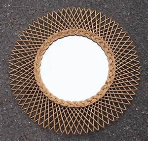 Miroir En Rotin : miroirs soleil miroirs fleurs miroir rotin miroir ~ Nature-et-papiers.com Idées de Décoration