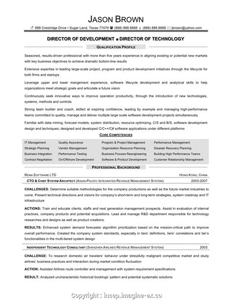 Information Technology Resume Exles by Downloadable Information Technology Director Resume