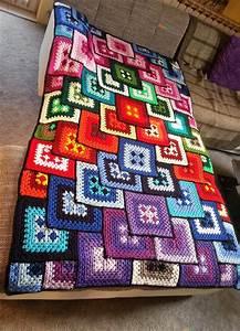 Granny Square Decke : h kelfieber patchwork granny decke ~ Buech-reservation.com Haus und Dekorationen
