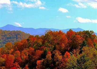 Mountains Fall Carolina North Colors Mountain Autumn