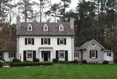 House With White Shutters by Things That Inspire A Classic White House Black Shutters
