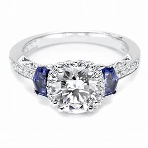 Wedding rings zales vera wang love collection solitaire for Sapphire engagement rings with wedding band
