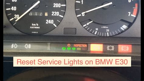 reset service lights   bmw series