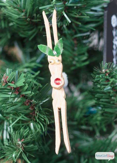 diy reindeer clothespin ornaments made from pinterest