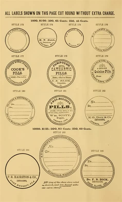 ready   weekend  vintage apothecary labels