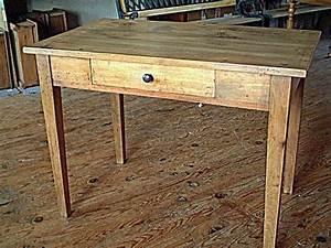 Bureau Ancien En Bois : table ancienne bois avec tiroir ~ Carolinahurricanesstore.com Idées de Décoration