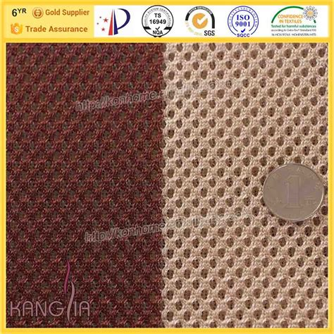 lavage siege auto tissu polyester stretch à rayures tissu pour ventilation de