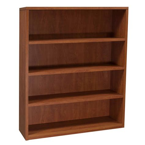 Cherry Bookcase by Laminate 4 Shelve 60 Inch Bookcase Cherry National