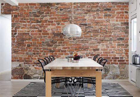 brick wall wallpaper mural  delivery  perswall
