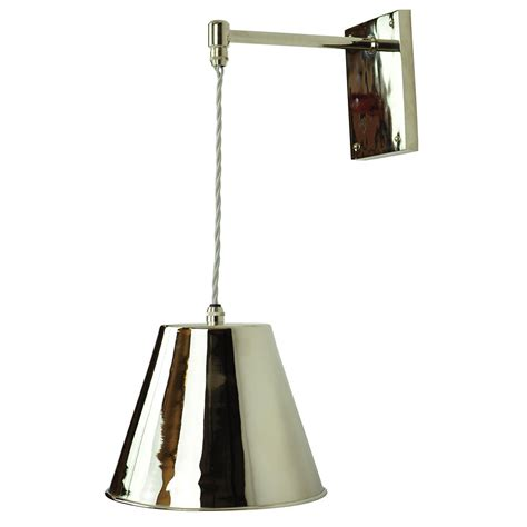 pewter hanging wall light on adjsutable height braided