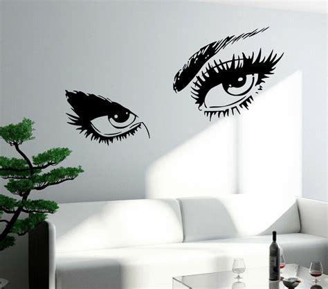 wall sticker sexy hot eyes girl teen woman big decal