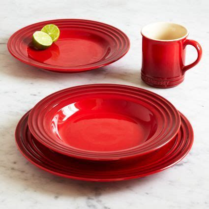 le creuset cherry  piece dinnerware set sur la table dinnerware dinnerware sets tableware