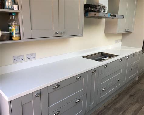 Corian Glacier White by 38mm Corian 174 Glacier White Work Surfaces Seamless Worktops