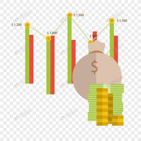 business money cartoon financial plan table vector