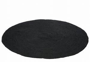 tapis rond jute noir urbantrottcom With tapis rond noir
