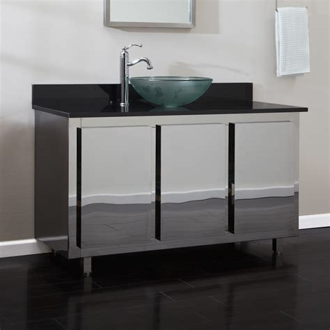 """17"""" Infinite Stainless Steel Square Vessel Sink Bathroom"""