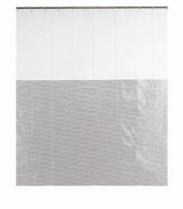 Rideau Gris Et Blanc : rideau de douche design ray gris et blanc 39 milleraies 39 180 x 200cm ~ Teatrodelosmanantiales.com Idées de Décoration