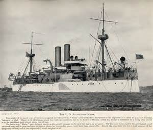 2nd class battleship u s s maine she would blow up in