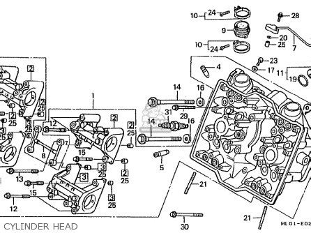 honda vfr400r 1987 h japan parts lists and schematics