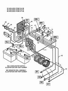 Vintage Golf Cart Wiring Diagram For Electric