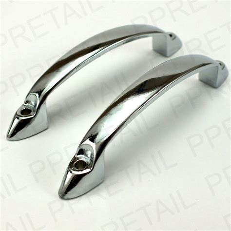 Chrome Cupboard Handles by 2 X Chrome 95mm 3 75 Quot Front Fixing Pull Door Handle
