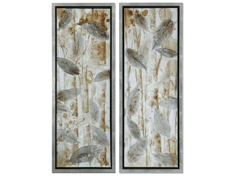 Uttermost Wall by Uttermost Pressed Leaves Wall 2 Set Ut41412