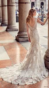 Eddy k 2017 wedding dresses milano bridal collection for Lace fit and flare wedding dress with sleeves