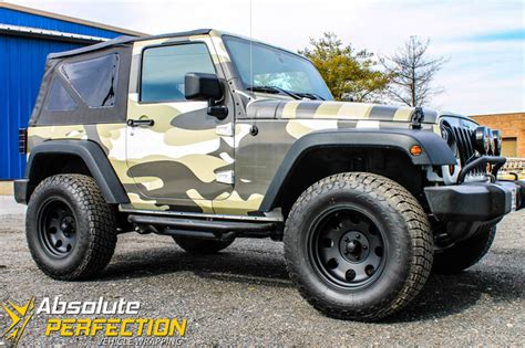 jeep vinyl wrap camo jeep vehicle wrap absolute perfection baltimore md