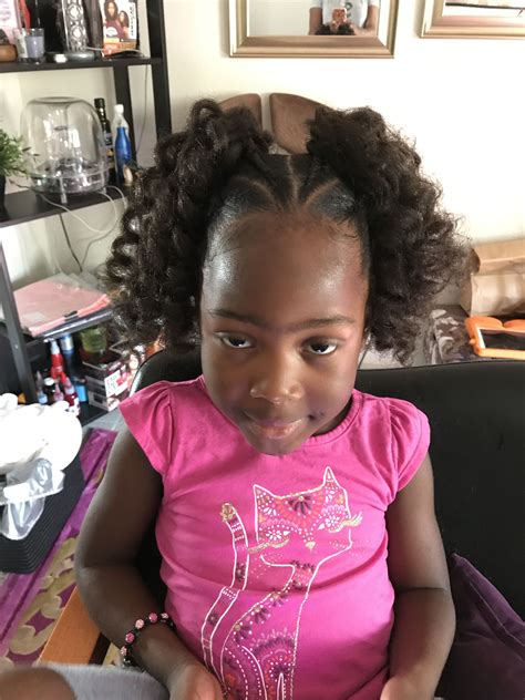 Kid Ponytail Hairstyles by Crochet Ponytails I Used 1pack Jamaican Bounce