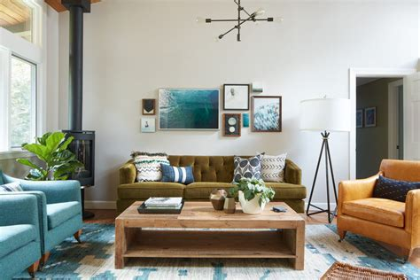 olive green sofa living room contemporary with earth tone colors wooden lounge chairs