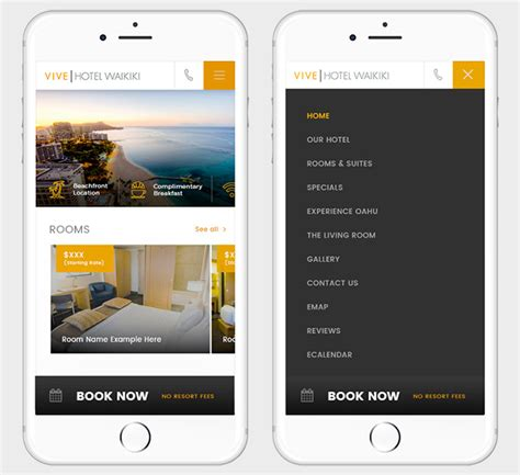 Mobile Website by Mobile Website Design For Hotels Retail And Financial