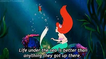 Mermaid Disney Ariel Sebastian Mermaids Gifs Triton