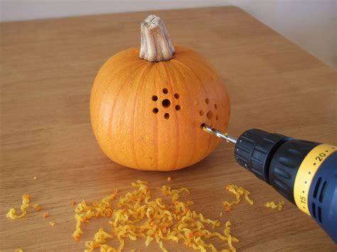 carving small pumpkin ideas pumpkins carved with a drill crafty nest
