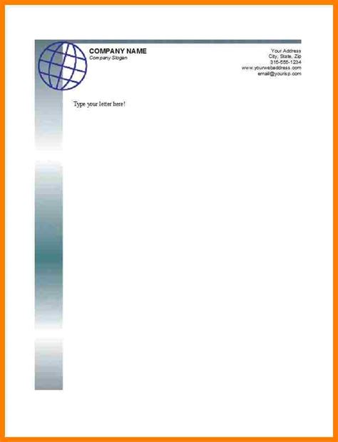 company letterhead templates letter flat