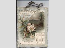 CHRISTIAN GRACES A DEVOTIONAL CALENDAR FOR 1893 TuckDB