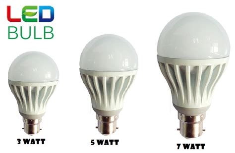 combo of 3w 5w 7w led bulbs set of 3 bulbs
