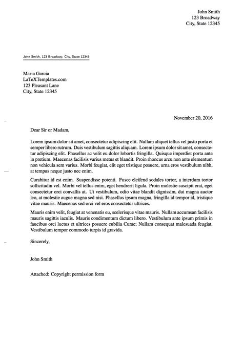 latex templates elmueller formal letter