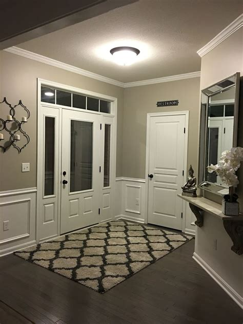 entryway wainscoting anew grey sherwin williams gray