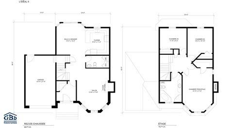 plan plain pied 3 chambres idéal ii maison neuve à deux étages de type cottage