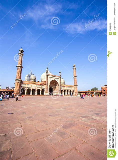 jama masjid mosque  delhi editorial photography