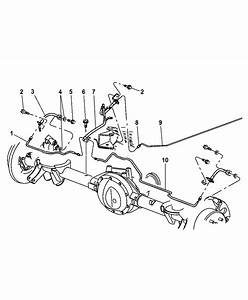 2001 Jeep Grand Cherokee Rear Brake Lines  U0026 Hoses