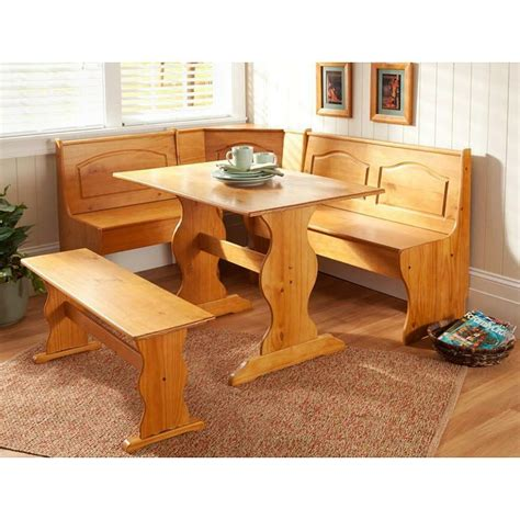 Booth Benches by Kitchen Nook Solid Wood Corner Dining Breakfast Set Table