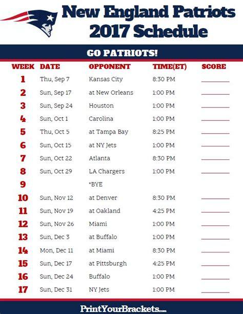 patriots schedule ideas  pinterest