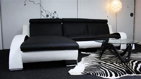 canapé d angle cuir noir et blanc photos canapé d 39 angle design noir et blanc