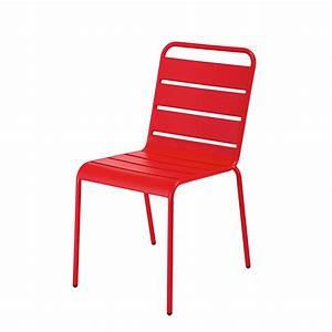 Chaise Jardin Maison Du Monde : chaise de jardin empilable en m tal rouge batignolles maisons du monde ~ Melissatoandfro.com Idées de Décoration