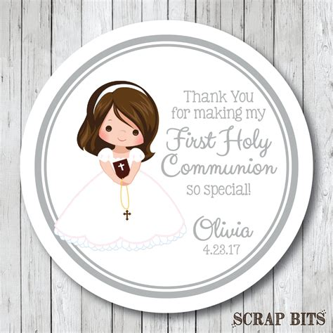 communion stickers personalized  holy communion