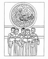 Coloring Pages Christmas Printable Traditional Adults Printables Classic Choir Church Bible Boys Stained Singing Glass Kerstmis Teens Adult Sheets Traditioneel sketch template