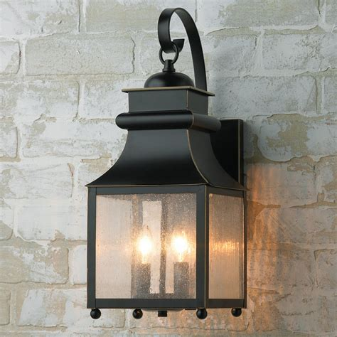homesteader seeded glass outdoor wall lantern shades of
